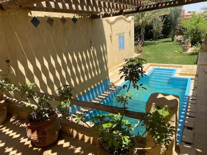 Flat with private pool and private garden