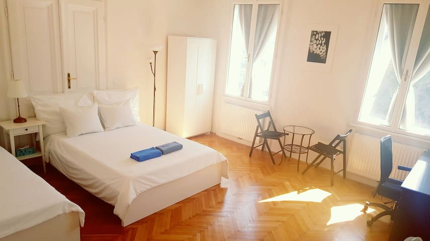Twin room near City Center - Wenen - Appartement