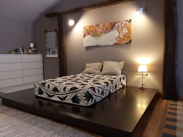 Nice bedroom in a loft
