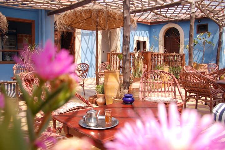 Chambre en terrasse ensoleillée au Grand Large