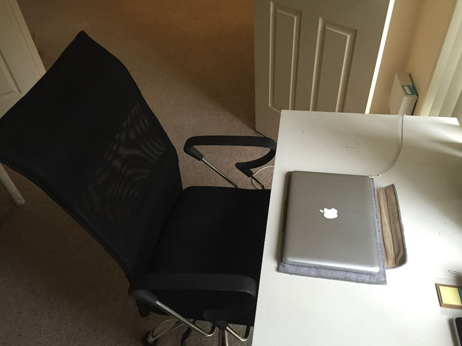 Desk & Chair (Laptop is not included)