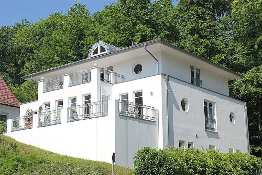 Außenansicht der Villa am Park in Sellin