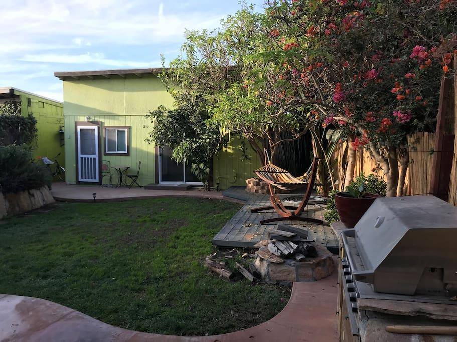 Studio and yard