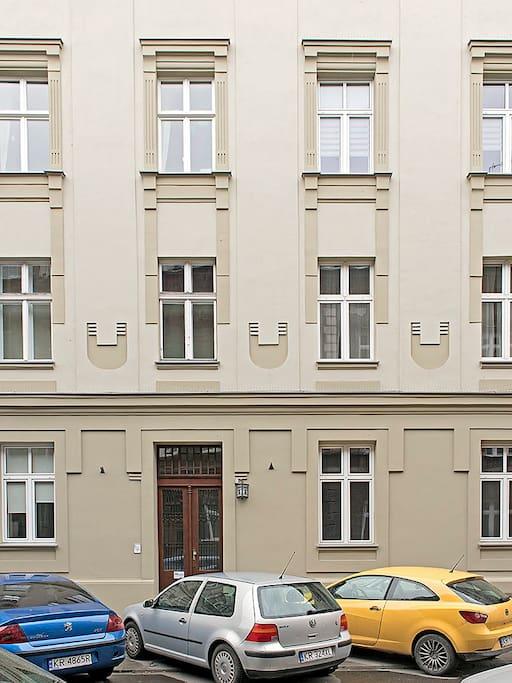 Fasada kamienicy Staszica 5