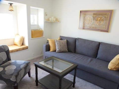 Sunny bright living room on main level