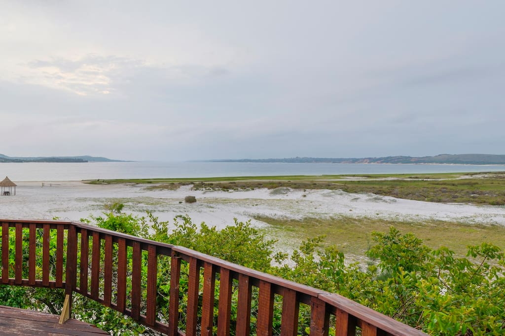 The view from the deck facing the Lagoon
