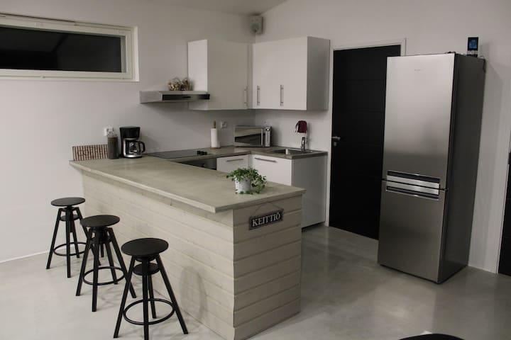 New, modern loft design, 60m2 studio guest house