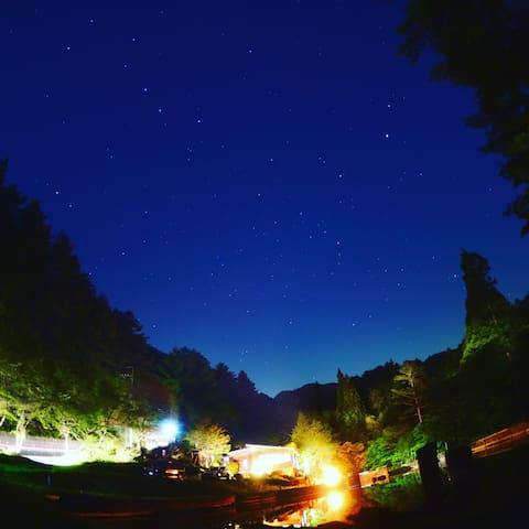 Star view from garden.