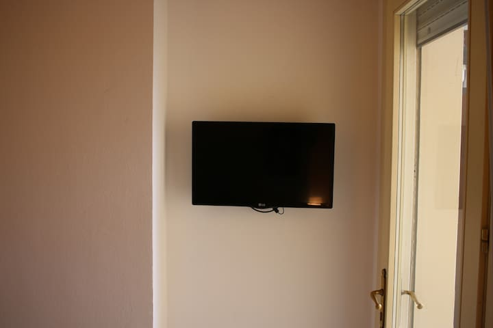 TV in camera. Television In the Bedroom
