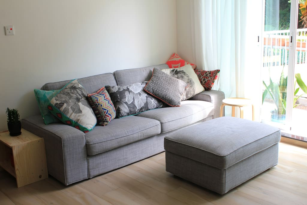 Comfy sofa to relax on!