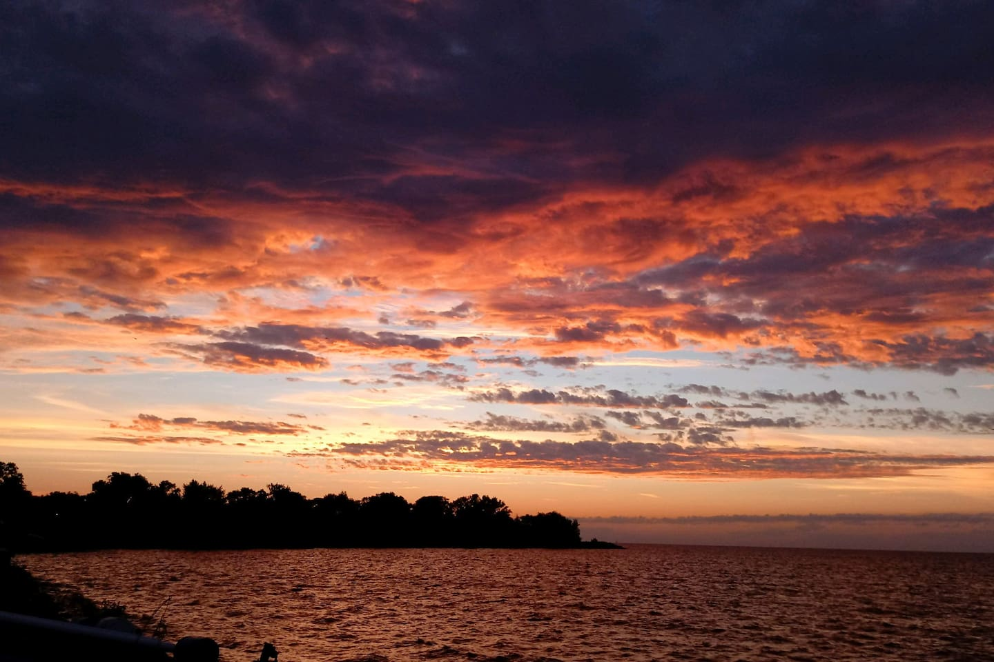 Wake up to the beauty of Lake Erie.  No matter what time of year you are here the sunrises are amazing,  you can enjoy a cup of coffee and watch the sun come up right from your room.  Or pull the room darkening shade closed and sleep in.