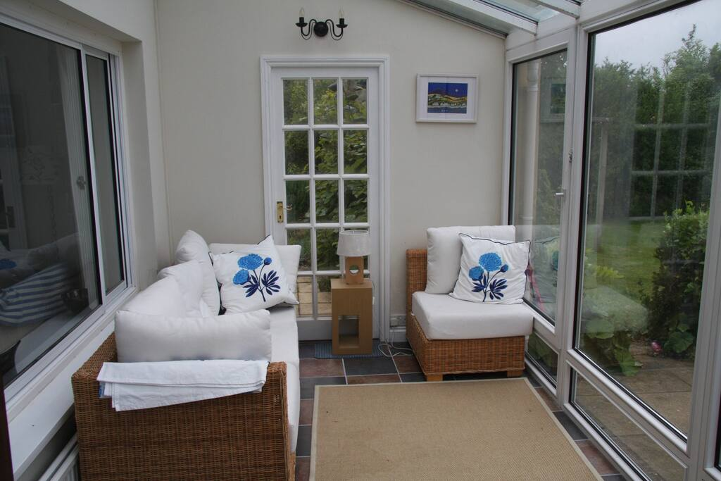 Seating area in conservatory