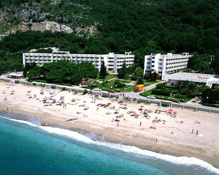 """main beach in the front of hotel """"Korali"""""""