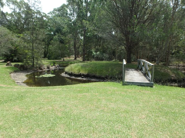 Tilligerry Escape is surrounded by bushland