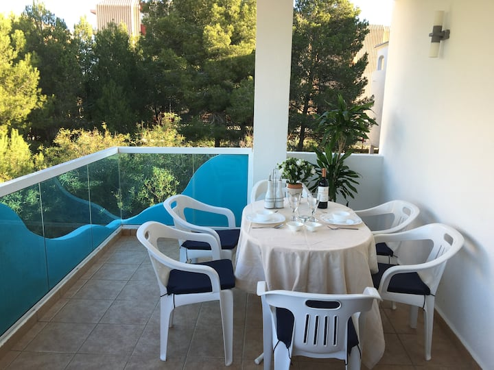 Jávea 2bedroom-beach1 min.walk+swimmingpool+wifi