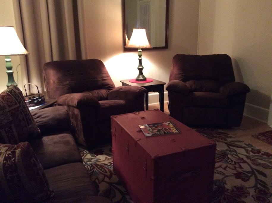 Kick back and relax in our cozy living area