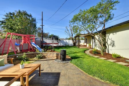 Big Backyard with Playground, Trampoline BackHouse