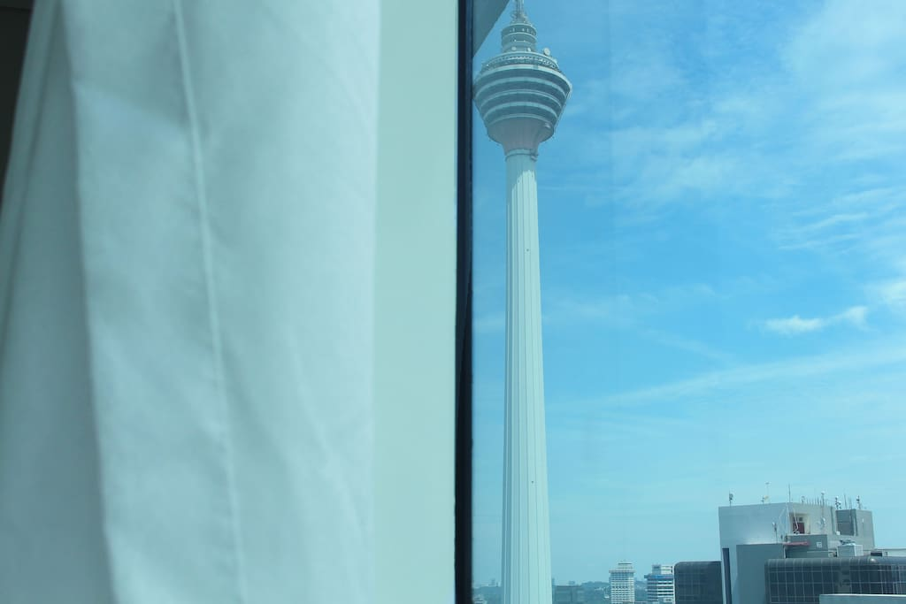 Stunning KL Tower view from bedroom