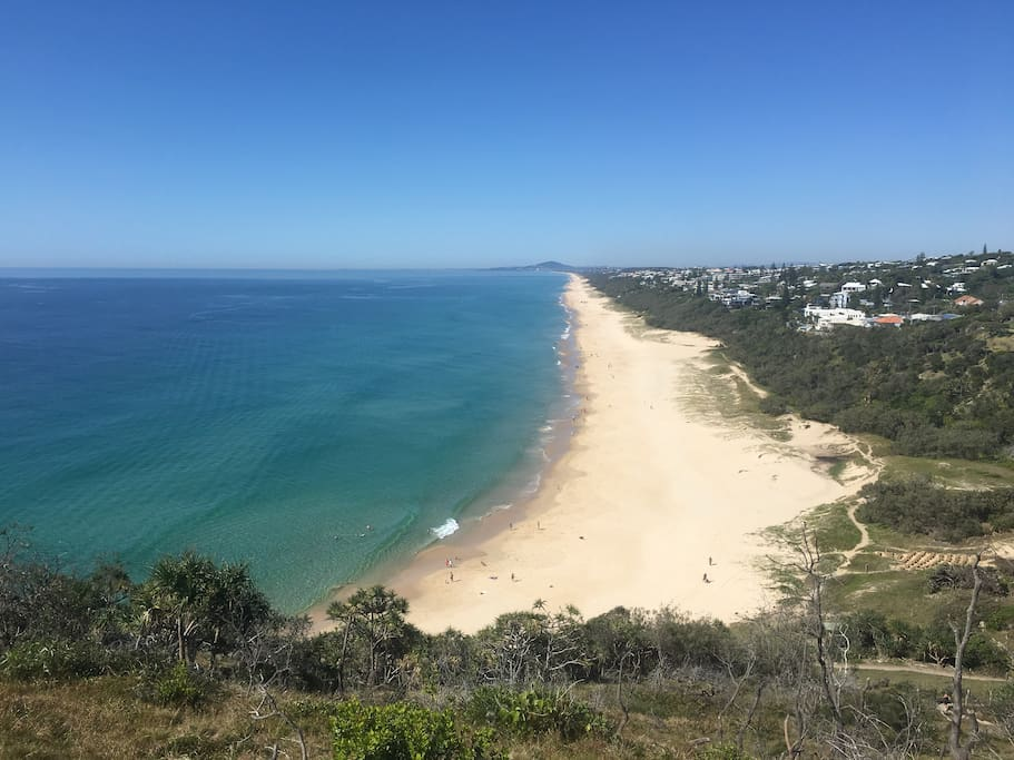 Sunshine Beach view from the top of headland