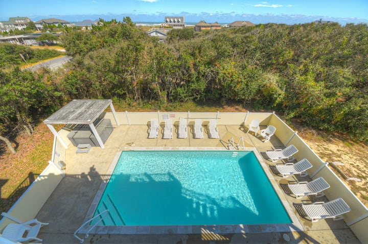 3068 Carolina Sunshine * 1 Minute Walk to Beach * Pet Friendly * Pool & Hot Tub * Pool Table