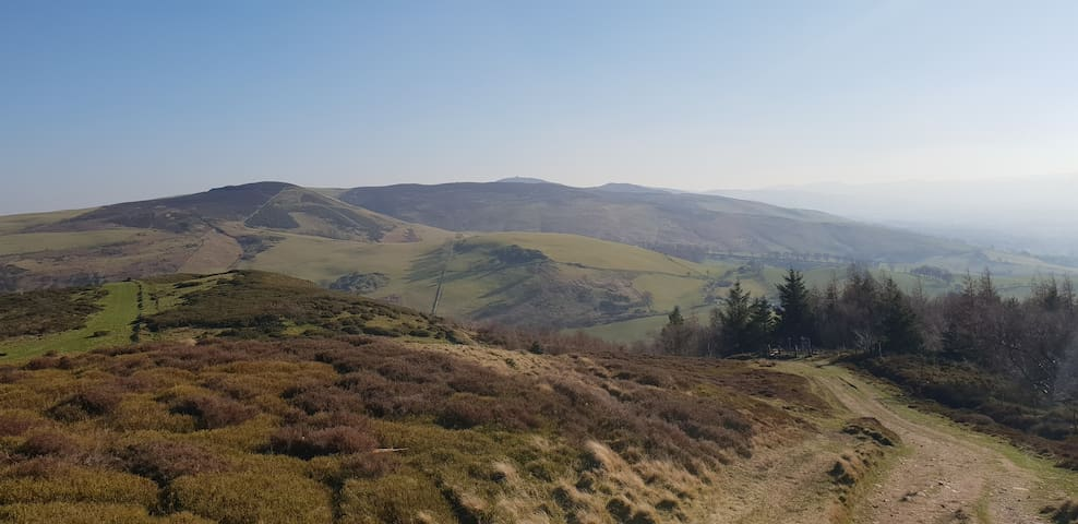 The Clwydian Range provides plenty of walking, running or mountain biking opportunities if you're feeling energetic.