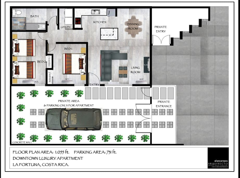 floor plans of the Apartment.
