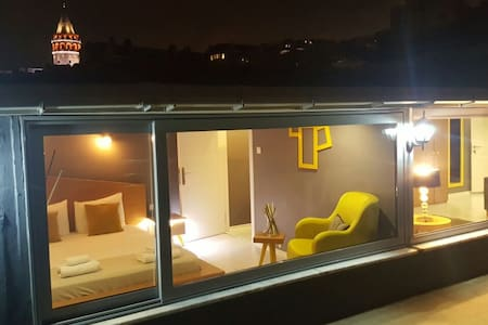 well located terrace flat with amazing sea view - Beyoğlu