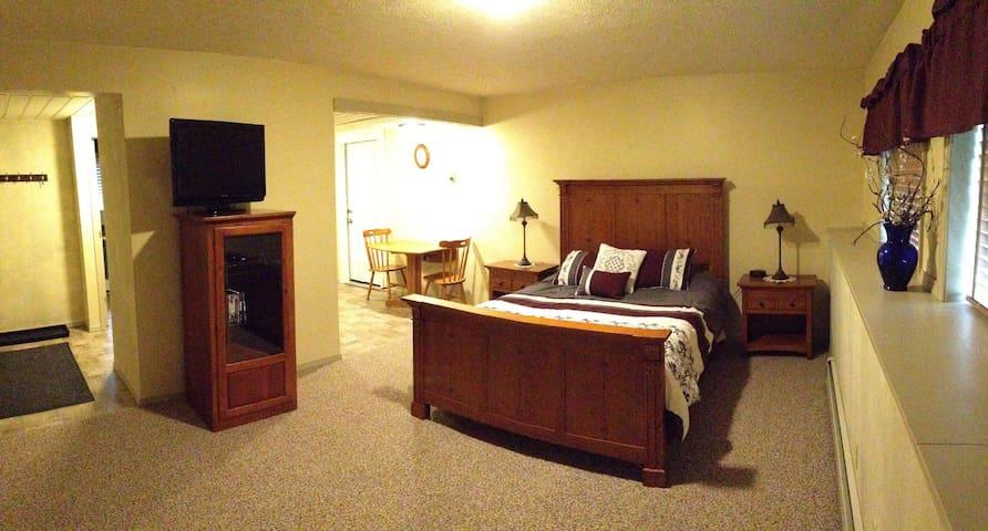 Newly remodeled studio w/kitchenette and bathroom.