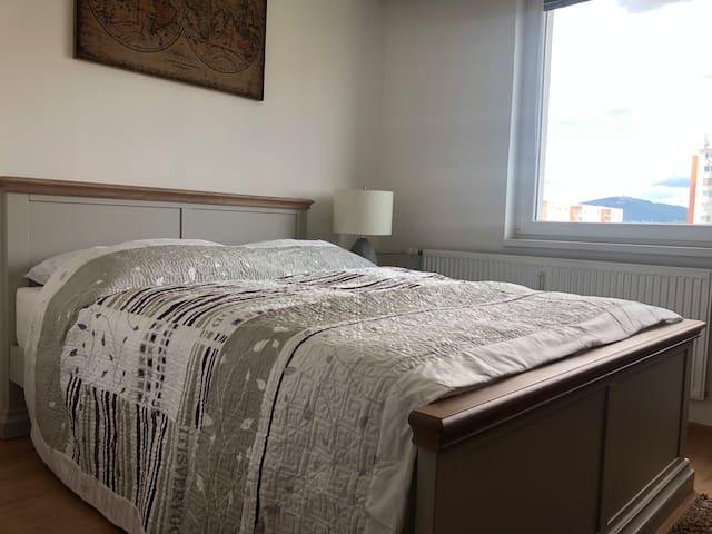 Quiet and cozy 2-bedroom apartment with balcony