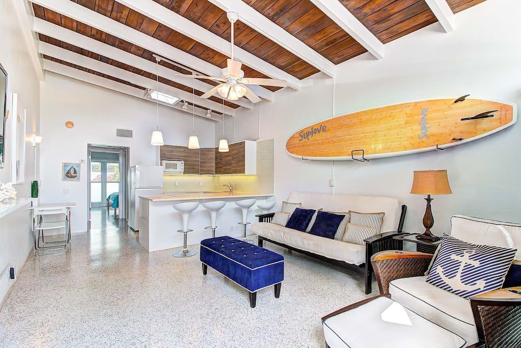 Modern and Beach Chic Open Floor Plan