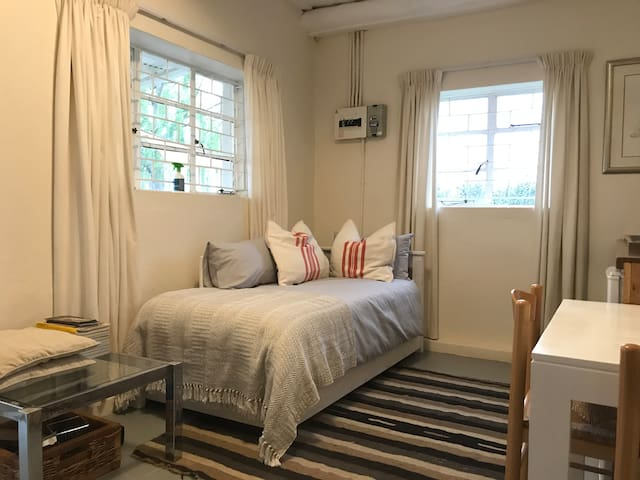 Daybed with underbed too, can accommodate two children or adults although not much space for lots of luggage unfortunately - pack wisely!