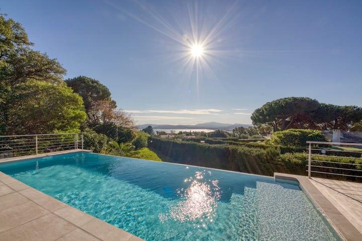 Villa Solea Grimaud - 6 pers - Piscine - Vue Mer