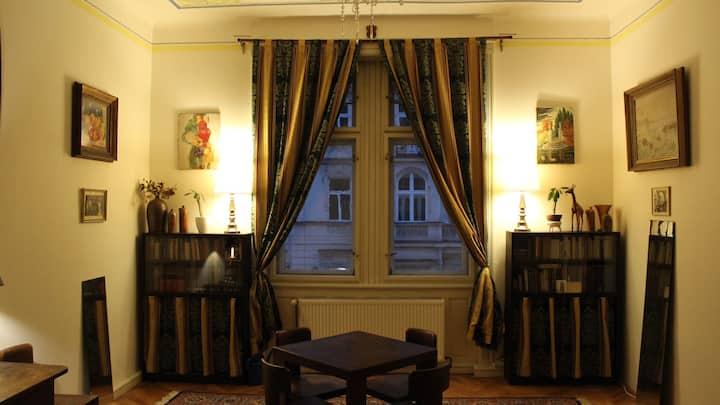 Huge room in Art Nouveau apartment