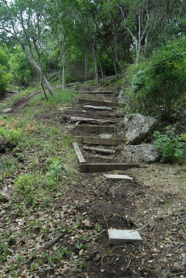 Some of the stairs going up the hill