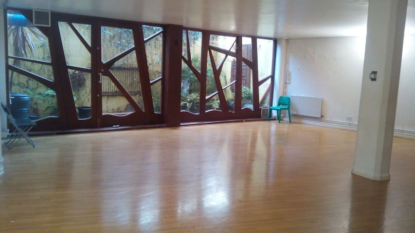 Single room + kitchen + living room + dance studio