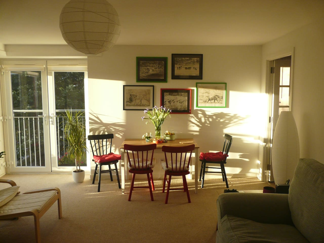 Feel free to relax in the shared living room, a lovely place to enjoy breakfast.