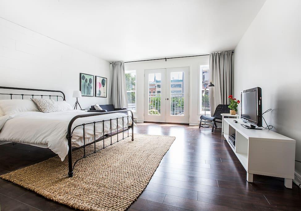 Loft bons jour downtown quebec city appartements for Chambre d hote quebec city