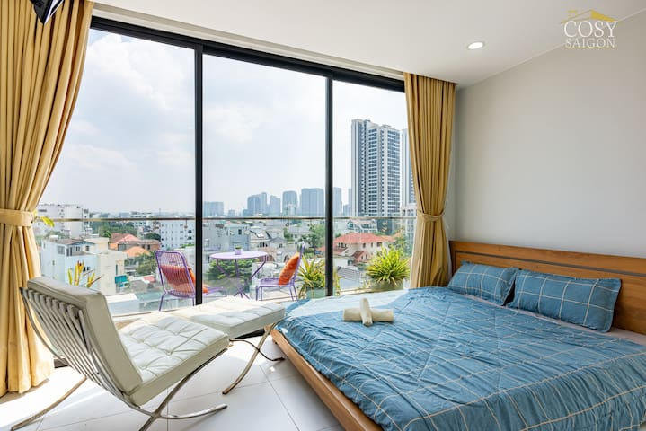 Penthouse - Panorama view in Center of Thao Dien