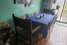 Diningroom table table seats 8.