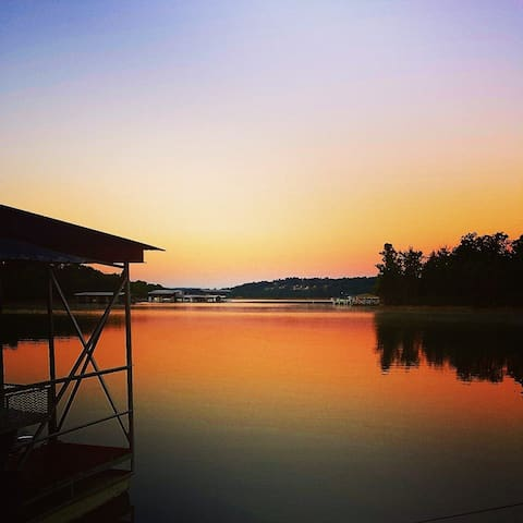 Beautiful sunset views from the dock.