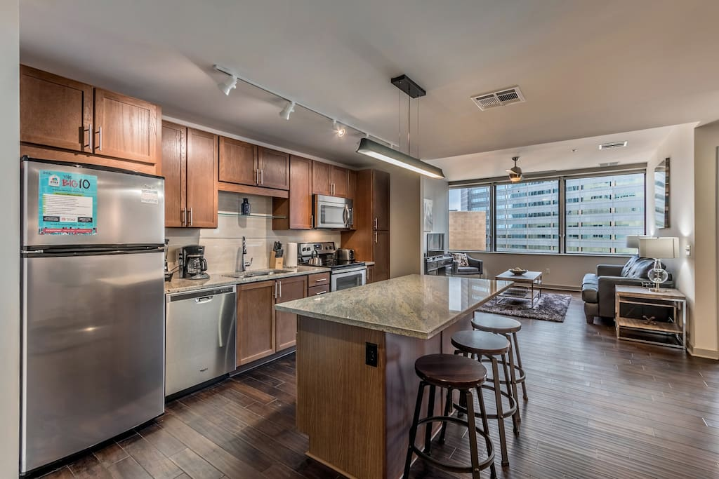 Kitchen at The LTV Tower by Stay Alfred