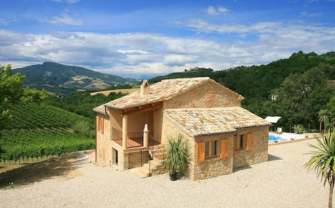Beautiful farmhouse with stunning views