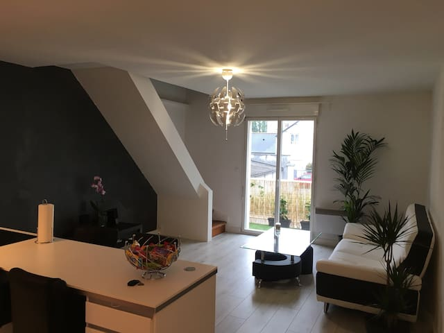 Charmant duplex au bord de l eau - La Riche - Appartement