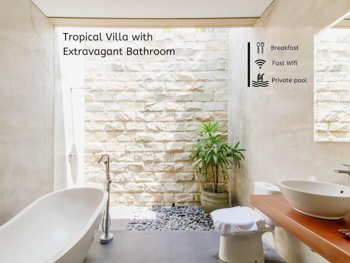 Tropical Private Villa with Extravagant Bathroom