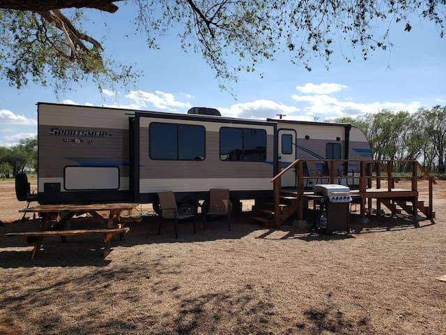 The Bob White Camper at Caprock Canyons