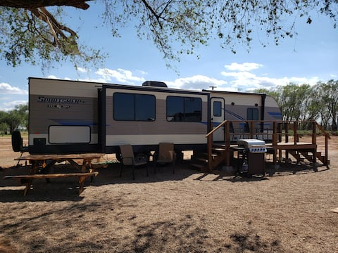 The Bob White Camper at Caprock Canyons