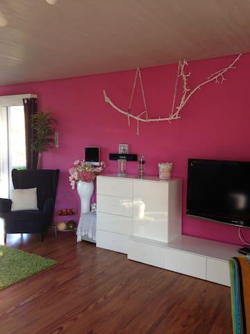 Wohnzimmer mit grossem TV