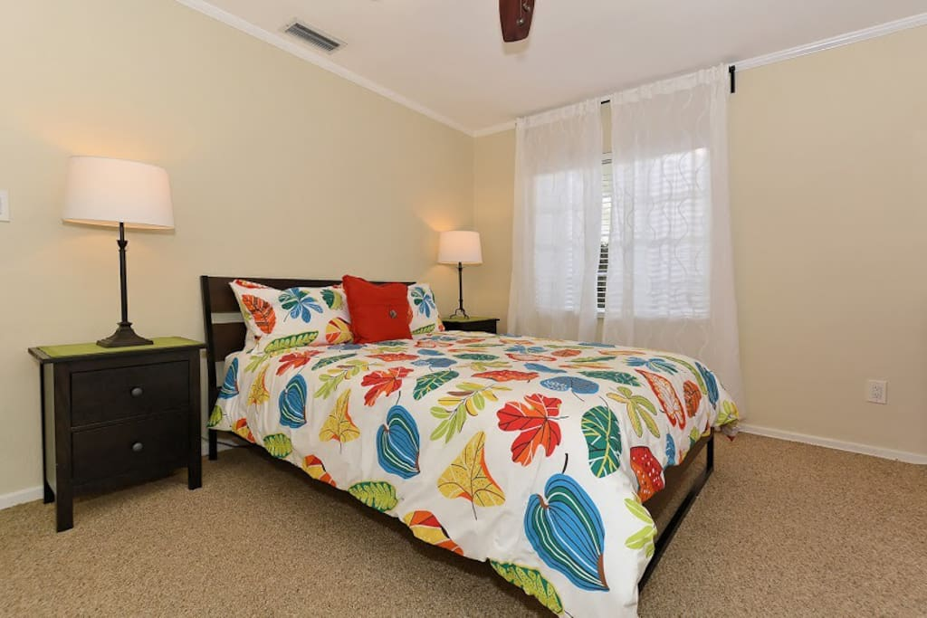 Master Bedroom with the most comfortable Queen Bed. Plenty of closet and dresser space