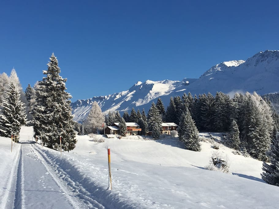 """Chalet """"Casa Nicola"""" (right) - Winter Acces Road (plowed, but snow tires and/or chains required)"""