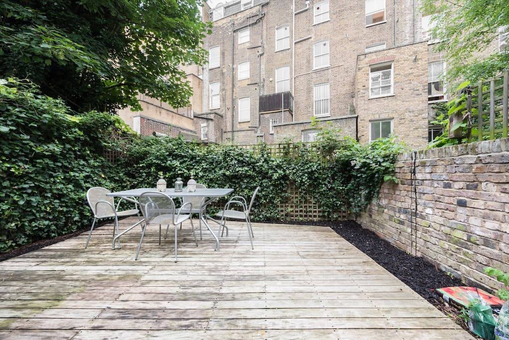 The spacious garden, perfect for al fresco dining or simply relaxing